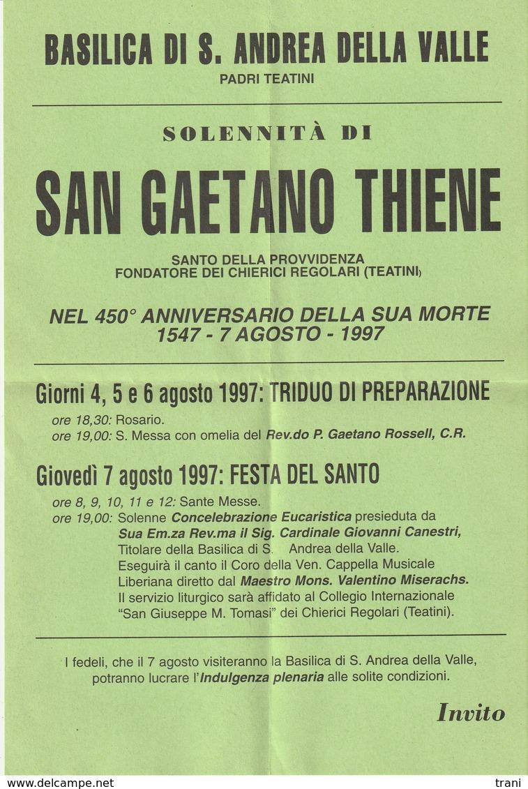 S. GAETANO - Anno 1997 - Religione & Esoterismo