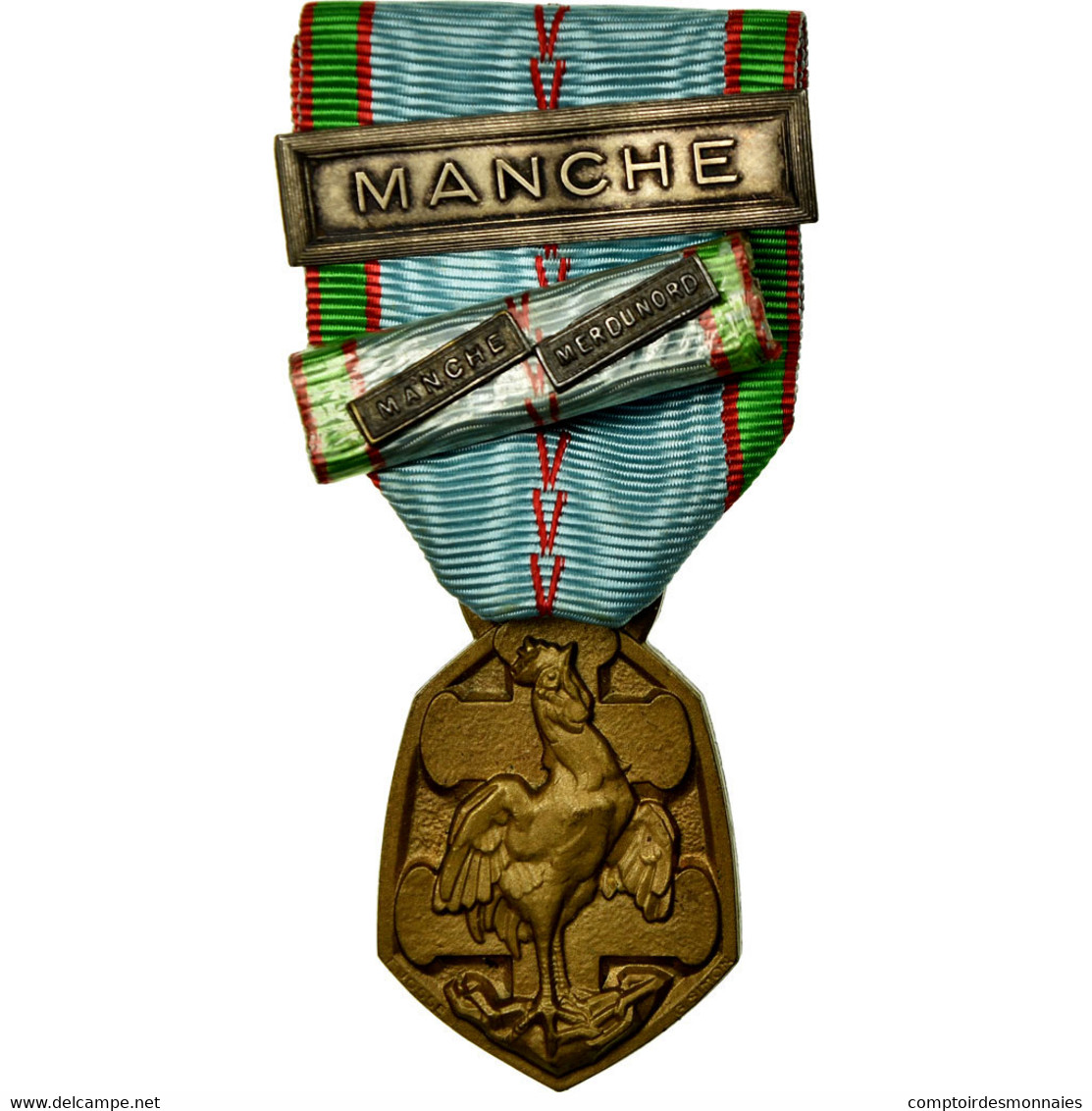 France, Libération De La France, Manche, Mer Du Nord, Médaille, Non Circulé - Militaria