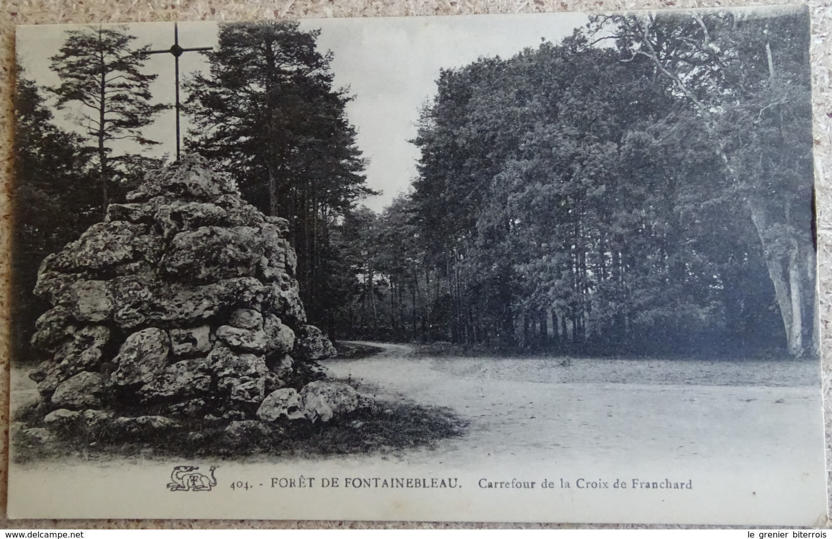 Cpa - ( 77 ) Fôret De Fontainebleau - Carrefour De La Croix De Franchard - Fontainebleau