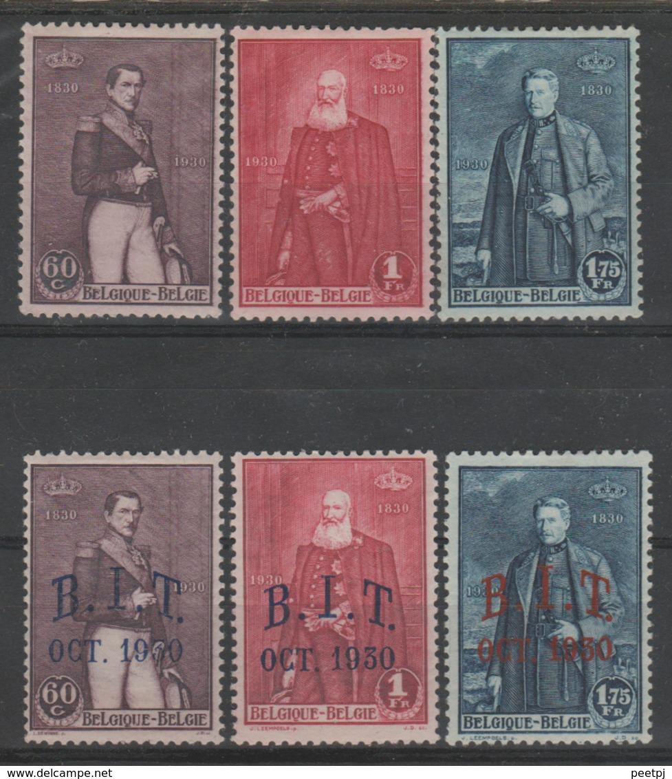 Belgique - 1930 - * - COB 302/307 - Valeur 33.75€ - Neufs