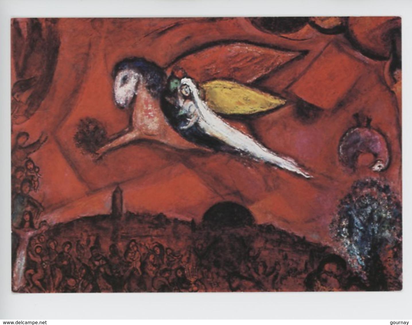 """Marc Chagall : Message Biblique : Cantique Des Cantiques """"j'ai Trouvé Celui Que Mon Coeur Aime... Cp Vierge -cheval Ailé - Peintures & Tableaux"""