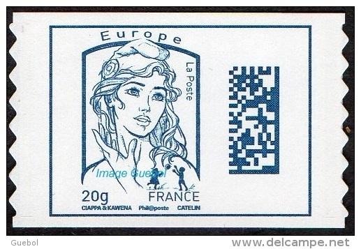 France Marianne De Ciappa Et Kawena Autoadhésif N° 1176,** Datamatrix Europe FOND BLANC (PRO) Première Génération - 2013-... Marianne De Ciappa-Kawena