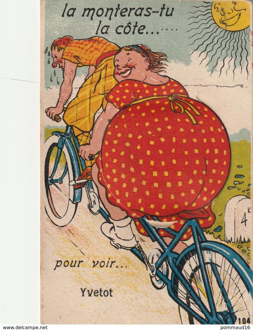 CPA La Monteras-tu La Côte... Pour Voir Yvetot - Carte à Système - Humor