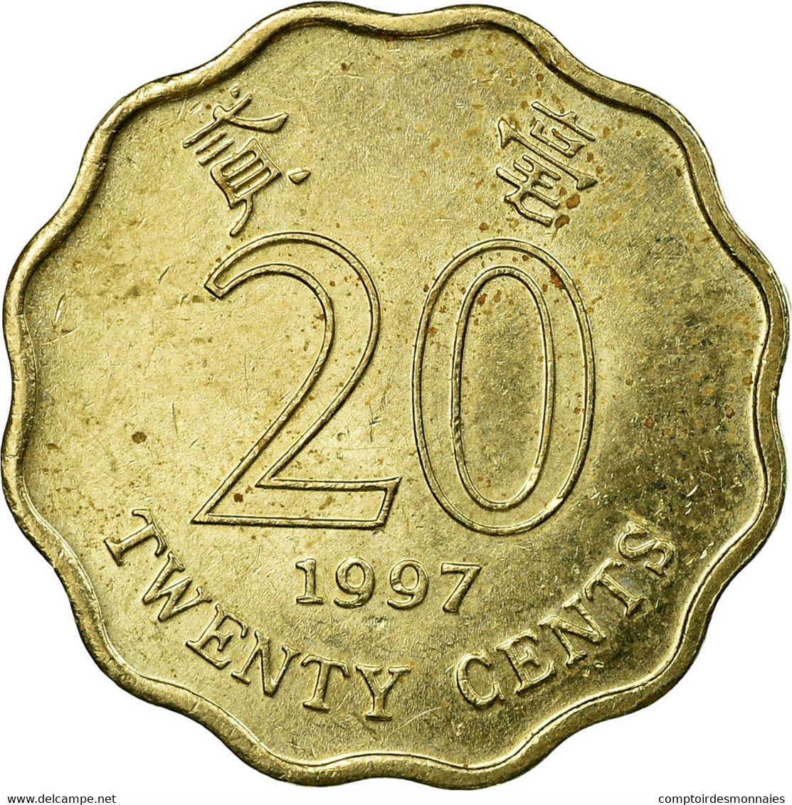 Monnaie, Hong Kong, Elizabeth II, 20 Cents, 1997, TB+, Nickel-brass, KM:67 - Hong Kong