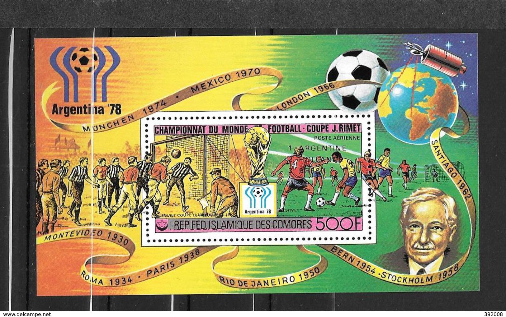 BF - 1978 - N° 26*MH - Vainqueurs Coupe Du Monde De Football En Argentine - Comores (1975-...)