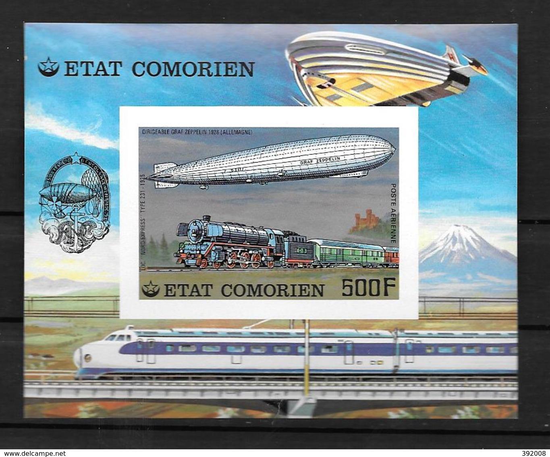 BF - 1977 - N° 8**MNH - Dirigeable Graff Zeppelin - Non Dentelé - Comores (1975-...)