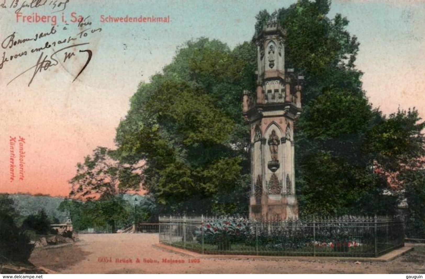 CPA - FREIBERG.i.Sachsen - Vue De La Ville - Schwedendenkmal... - Freiberg (Sachsen)