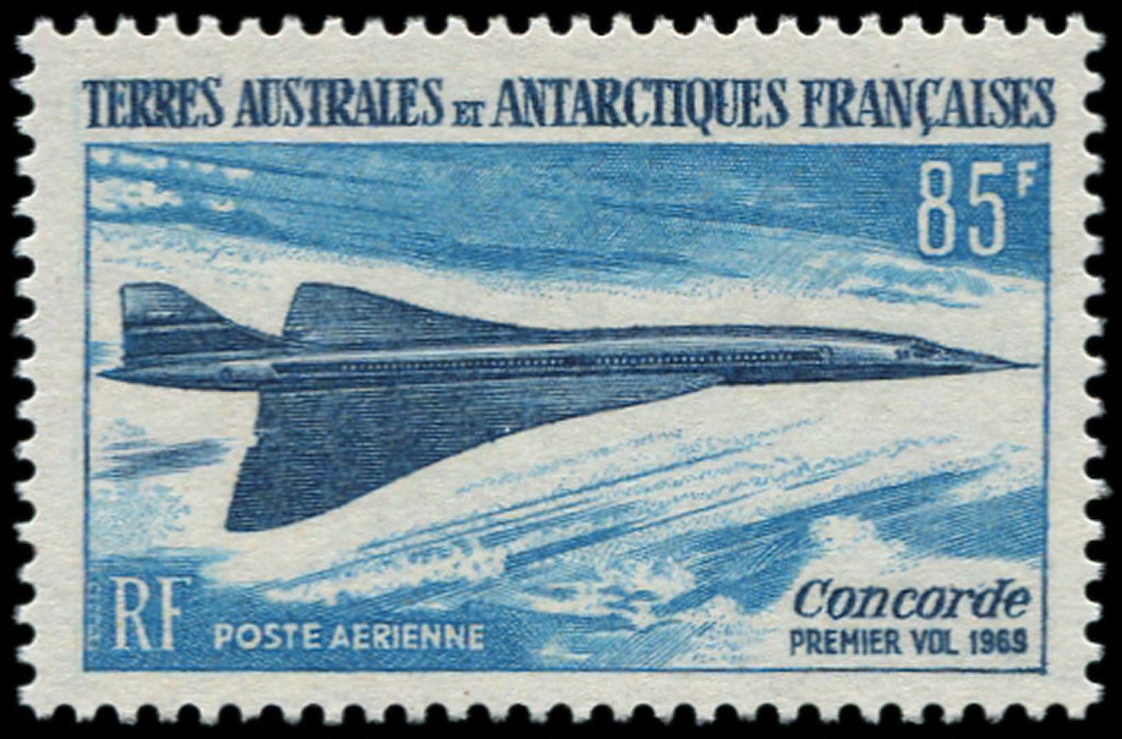 TERRES AUSTRALES Poste Aérienne ** - 19, 85f. Concorde - Cote: 87 - Terres Australes Et Antarctiques Françaises (TAAF)