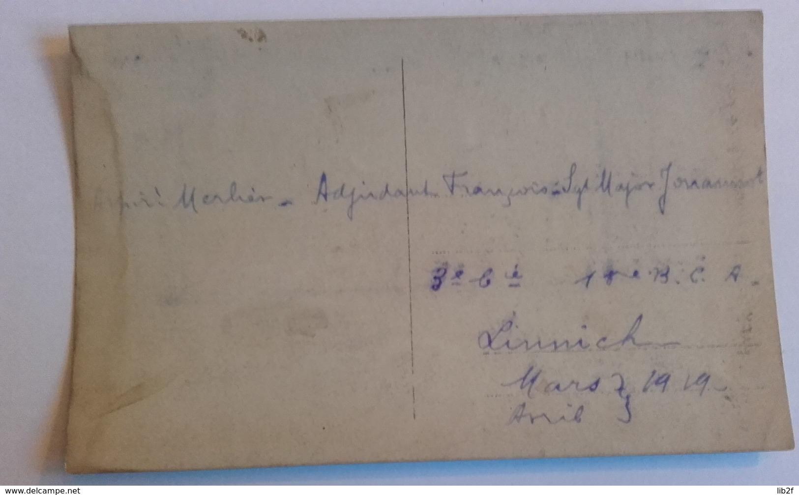 1919 Chasseurs Alpins 1er Bataillon Linnick Allemagne Occupation Ruhr Aspirant Sous Officiers Nommés - War, Military