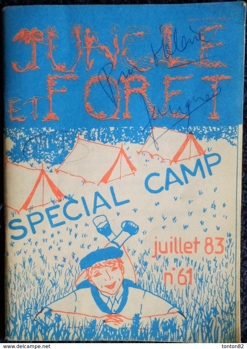 Revue SCOUT - JUNGLE Et Forêt - Spécial Camp - ( Juillet 83 N° 61 ) . - Bücher, Zeitschriften, Comics