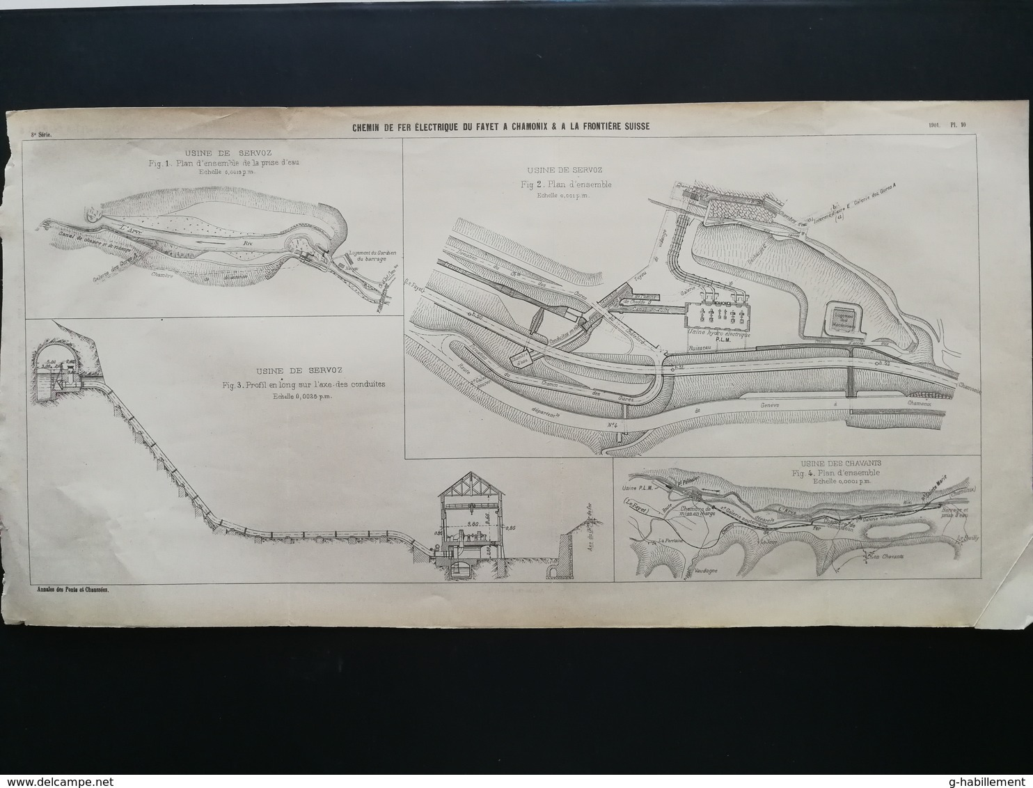 ANNALES DES PONTS Et CHAUSSEES (Dep 74 ) - Plan Du Chemin De Fer électrique Du Fayet à Chamonix - 1901 (CLE67) - Machines