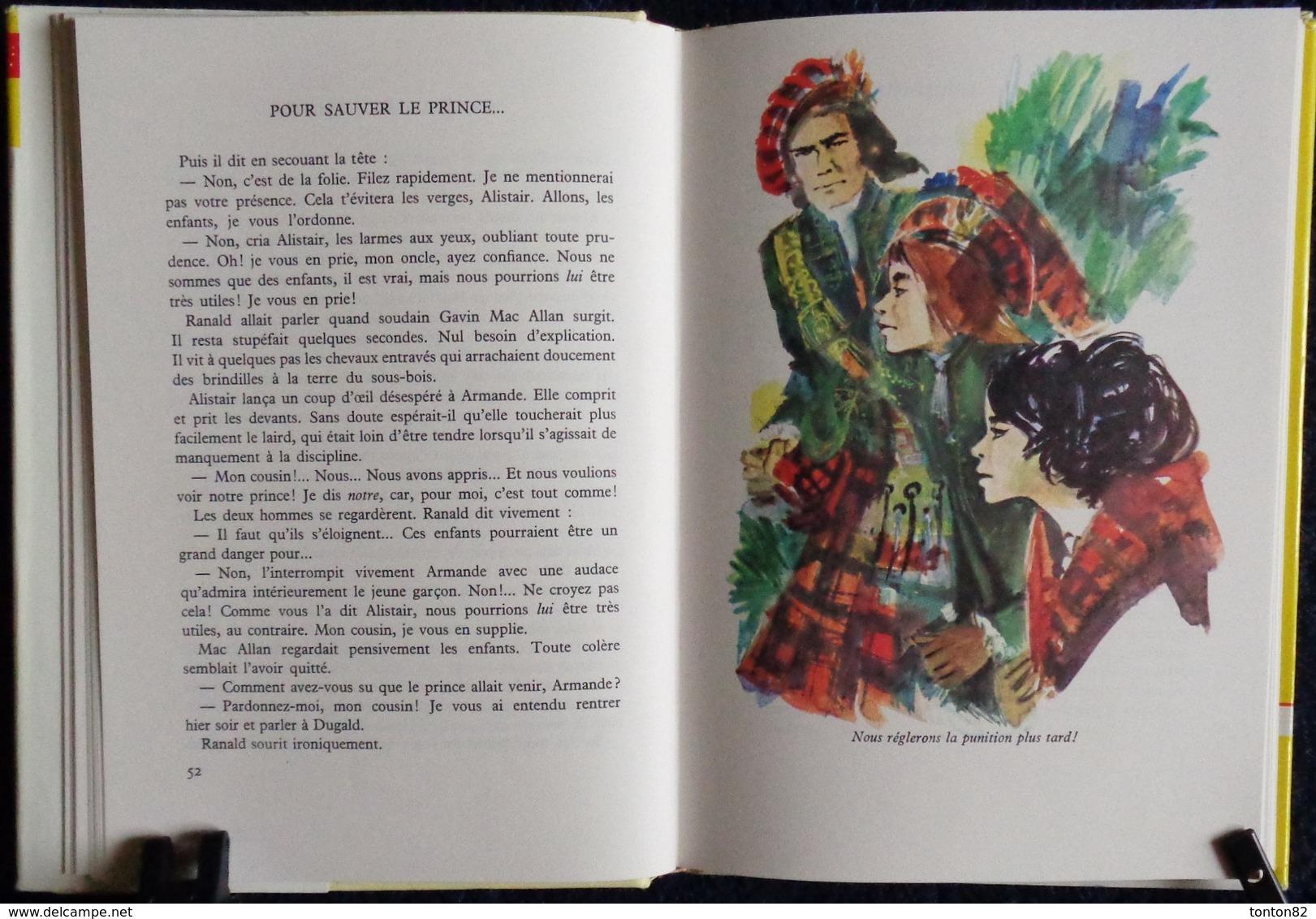 Cécile D'Argel - Pour Sauver Le Prince - Bibliothèque Rouge Et Or Souveraine 670 - ( 1966 ) . - Bibliothèque Rouge Et Or