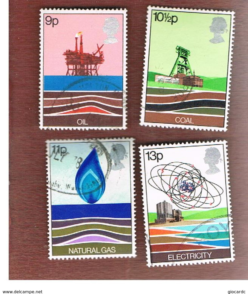GRAN BRETAGNA (UNITED KINGDOM) -  SG 1050.1053  -  1978 ENERGY  RESOURCES (COMPLET SET OF 4)   - USED° - Usati