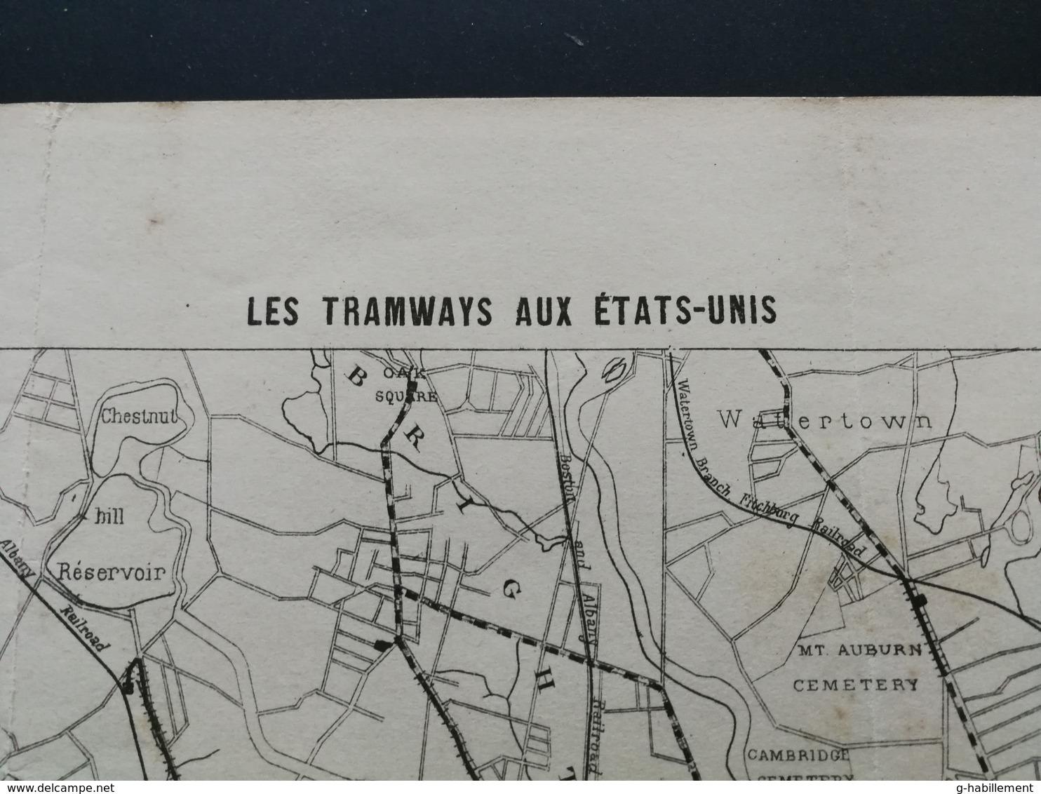 ANNALES DES PONTS Et CHAUSSEES (Etats-Unis) - Plan Des Tramways Aux Etats-Unis - Imp L.Courtier 1896 (CLE71) - Máquinas