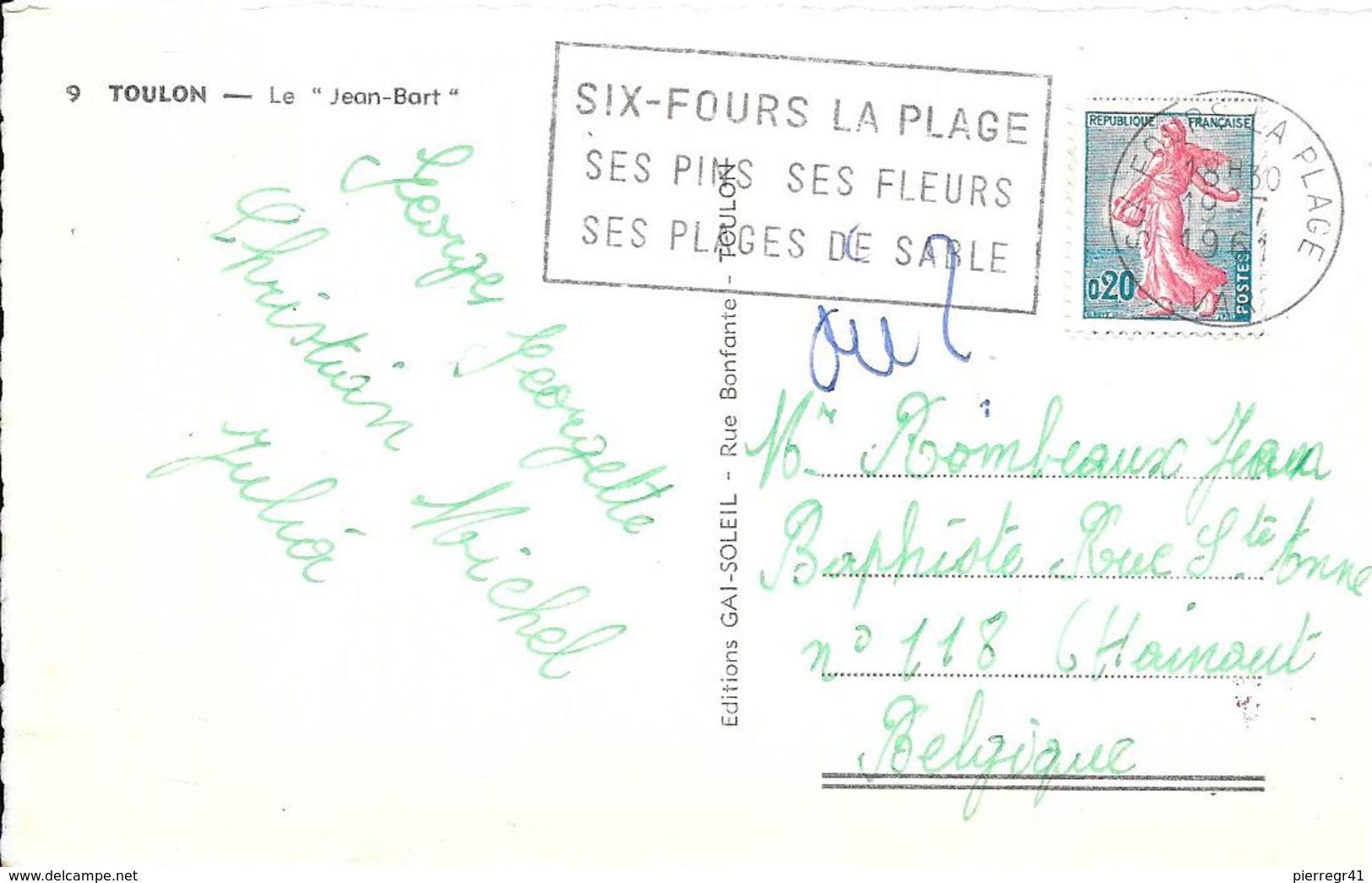 CPA-1960-83-TOULON-MARINE NATIONALE-CUIRASSE  JEAN BART-Edit Gai Soleil--TBE - Guerre