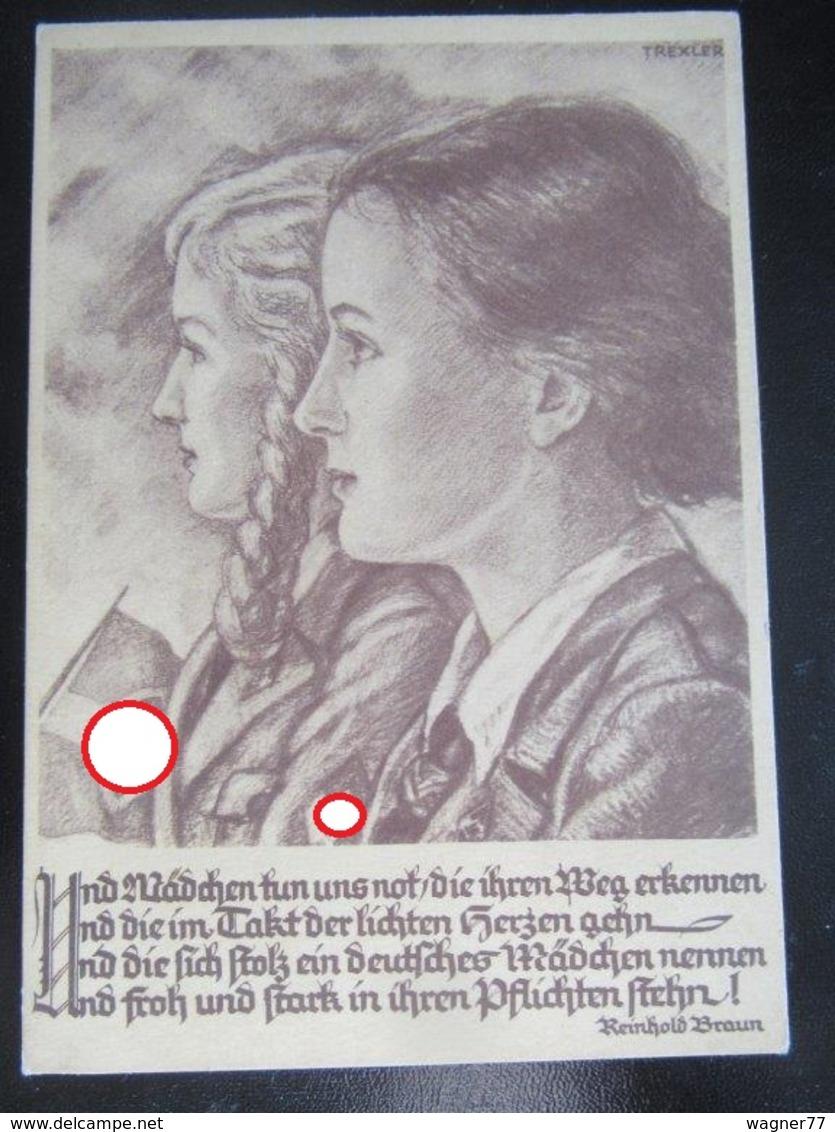 Postkarte Propaganda - BDM - Hitlerjugend - Trexler - R! - Allemagne