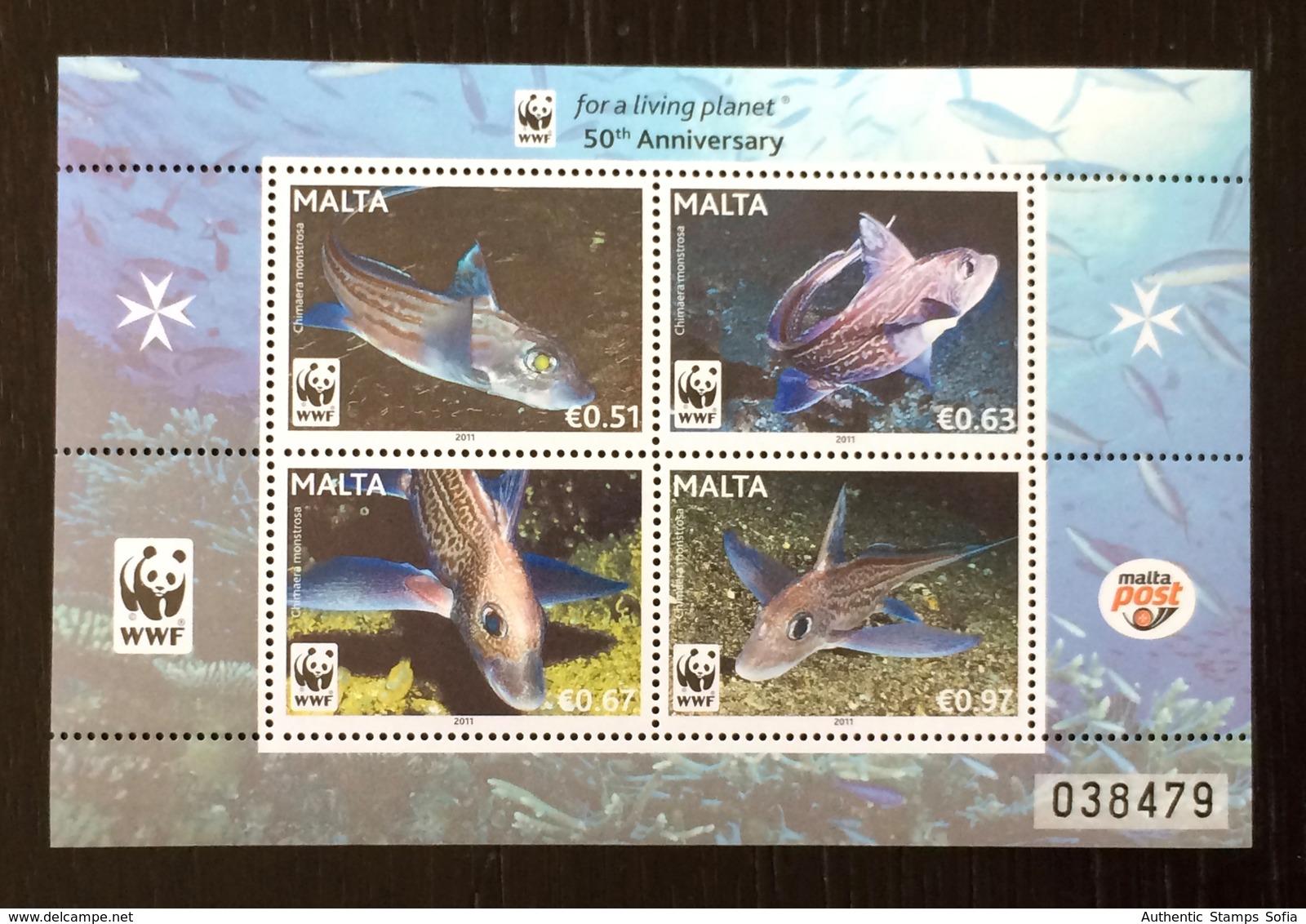 Malta 2011; WWF Marine Life, Fauna, Fishes; MNH VF** Scarce Sheet!! - W.W.F.