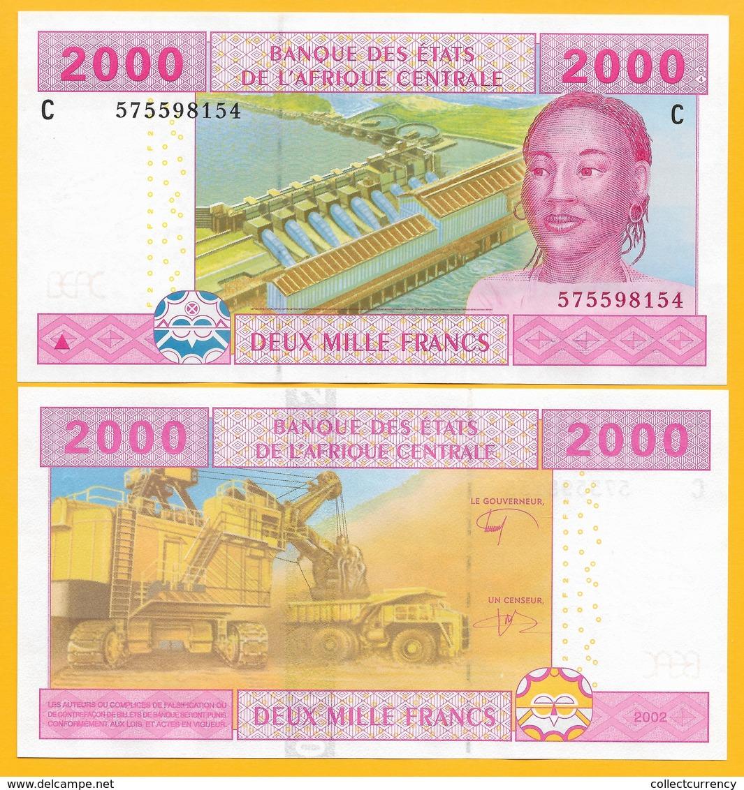 Central African States 2000 Francs Chad (C) P-608C 2002 UNC Banknote - États D'Afrique Centrale