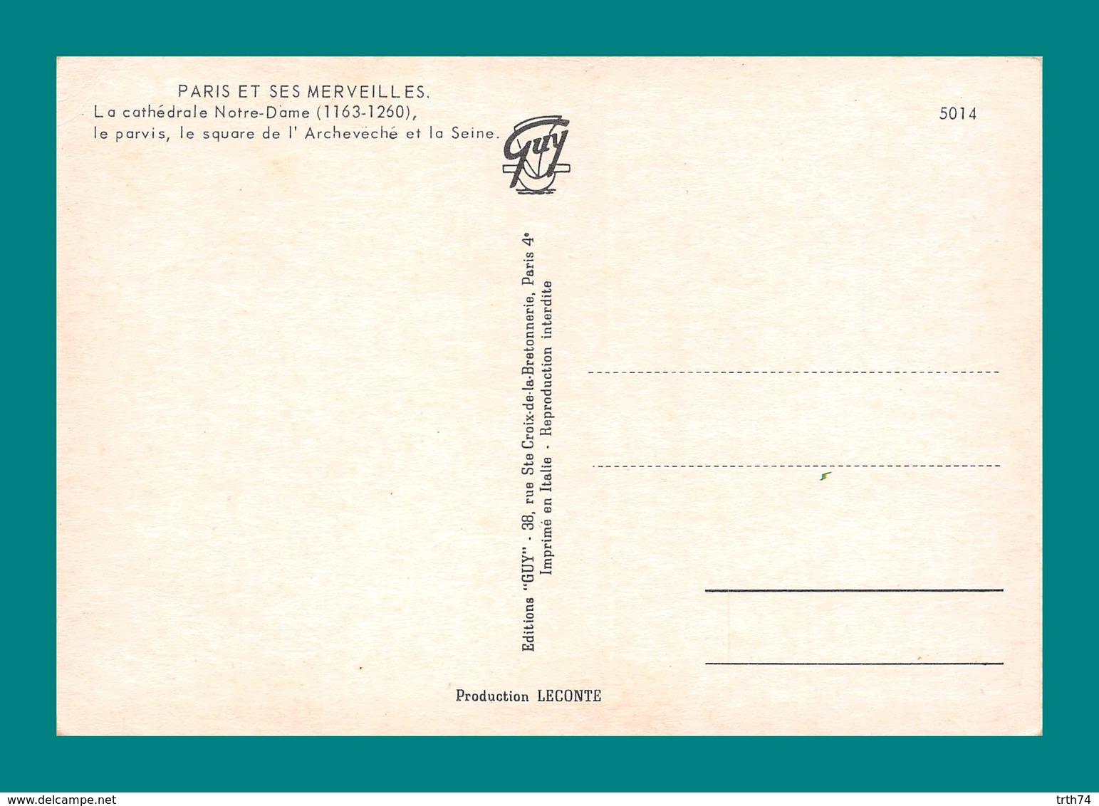 75 Paris Notre Dame Editions Guy 5014 - Notre Dame De Paris