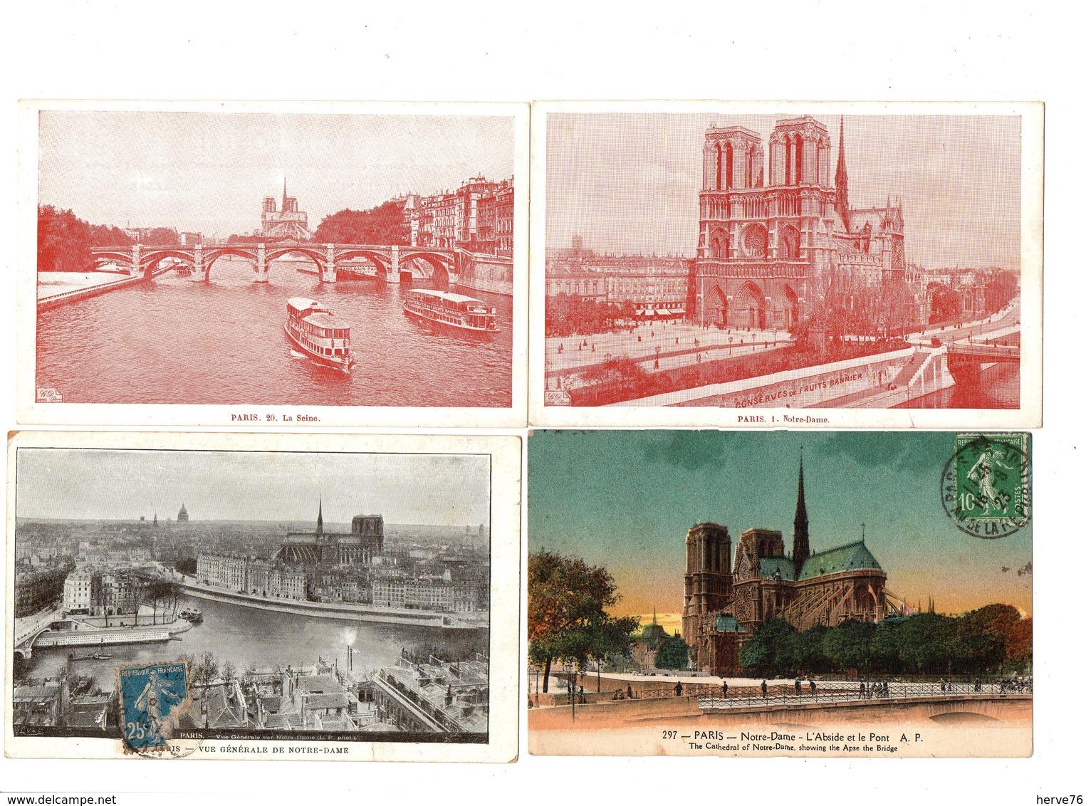 PARIS - NOTRE DAME DE PARIS - Lot 20 CPA - Eglise - Cathédrale - Notre Dame De Paris