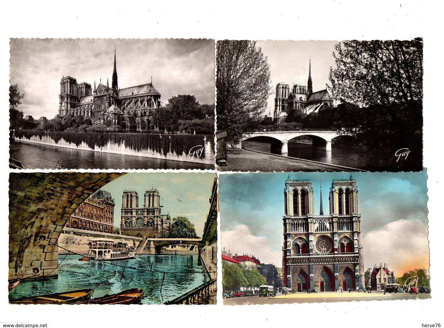 PARIS - NOTRE DAME DE PARIS - Eglise - Cathédrale - Lot 22 Cartes Postales Différentes - (CPSM - Petit Format) - Notre Dame De Paris
