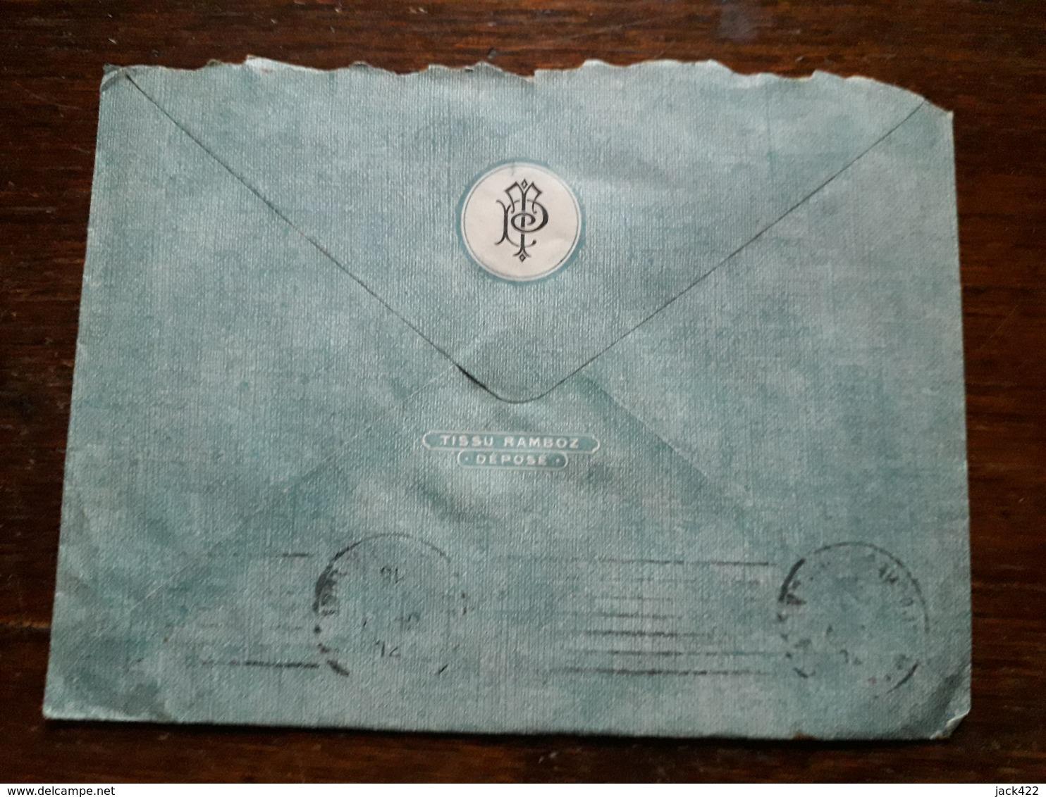 L19/255 Enveloppe Publicitaire. Aubusson. Tapis Et Tapisseries D'Aubusson.Leon Tabard Et Albert Pruneau - Old Professions