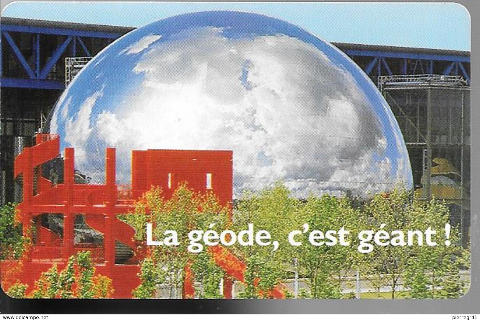 -CARTE-PASS-GEODE-1989-La GEODE C Est GEANT-V° SPEOS N°02089402-TBE - Tickets D'entrée