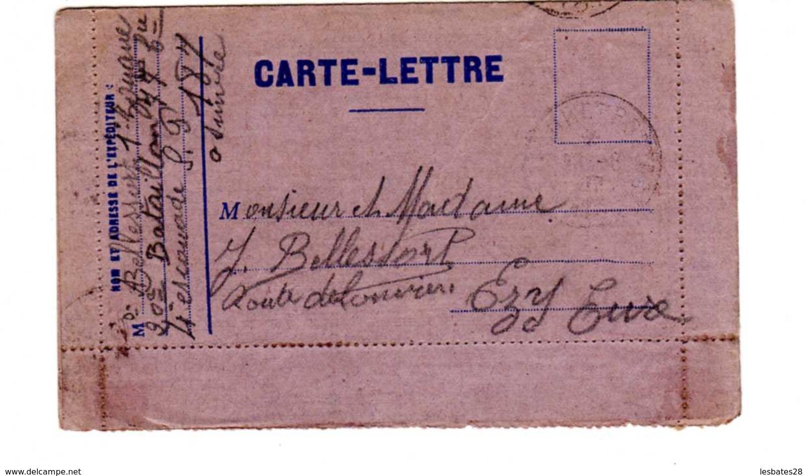 MILITARIA  CARTE-LETTRE  Carte De Franchise - Carte Lettre Victoire  1914-1915 EMBLEME  LE COQ   Cachet à Date1916 - Cartes De Franchise Militaire