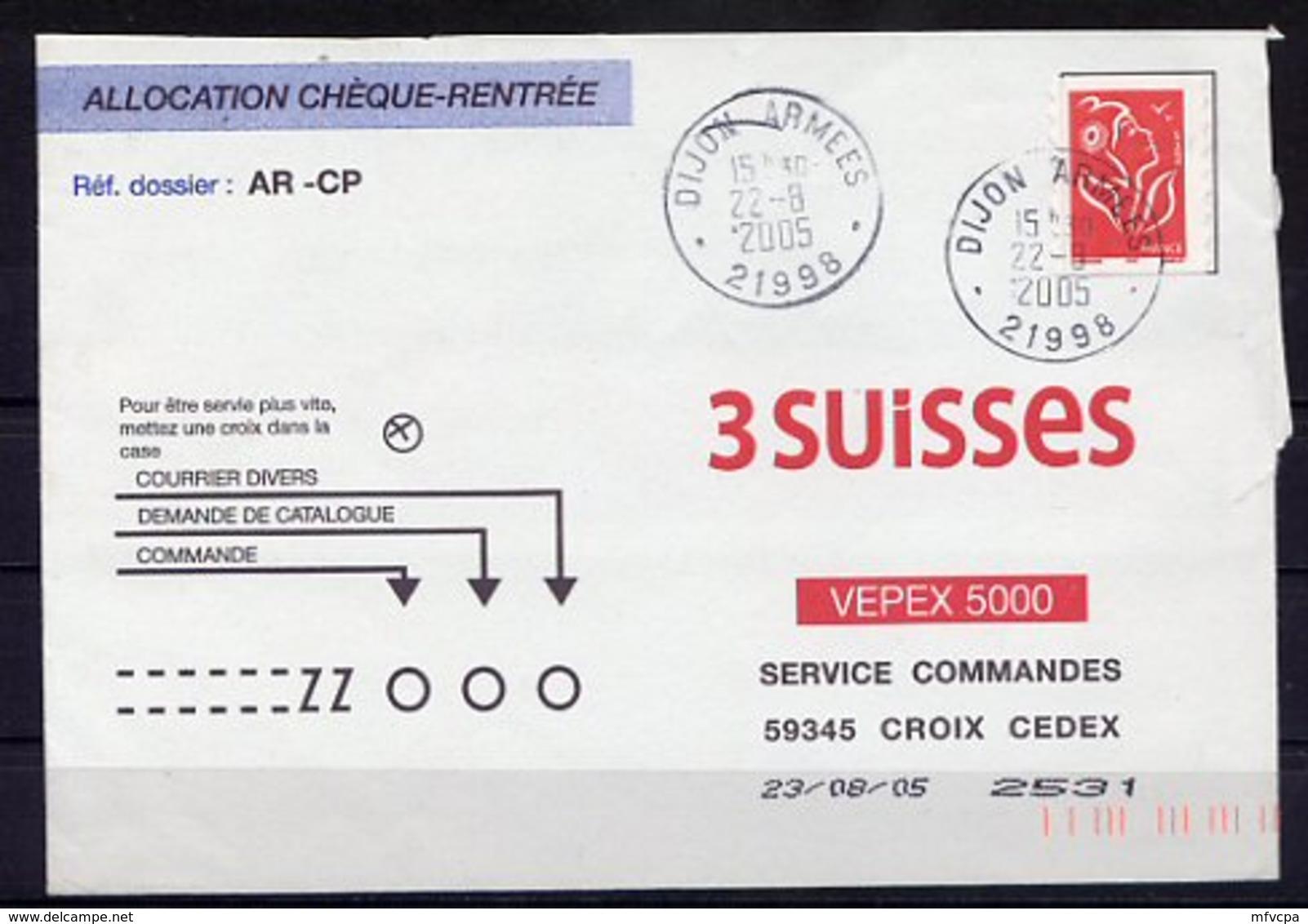 Lil3J80 Cad Dijon Armées 30998 22 08 2005 / Lettre Pour Croix (59) - Cachets Militaires A Partir De 1900 (hors Guerres)