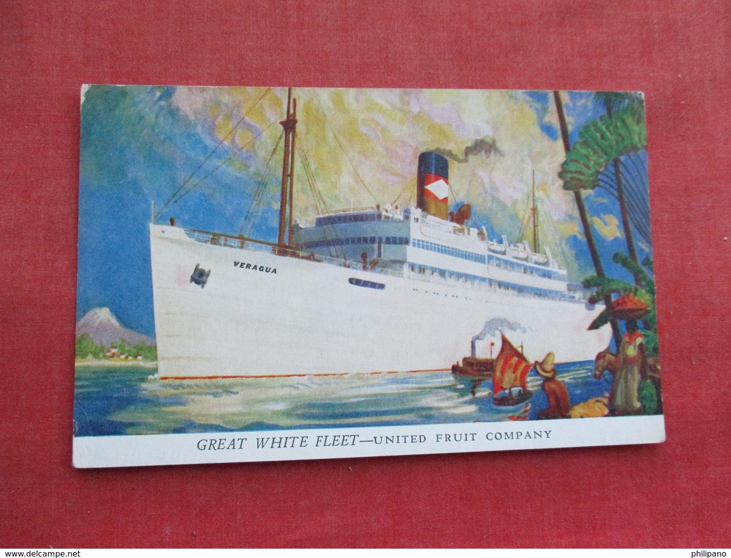 Great White Fleet  United Fruit Company    Ref 3289 - Paquebots