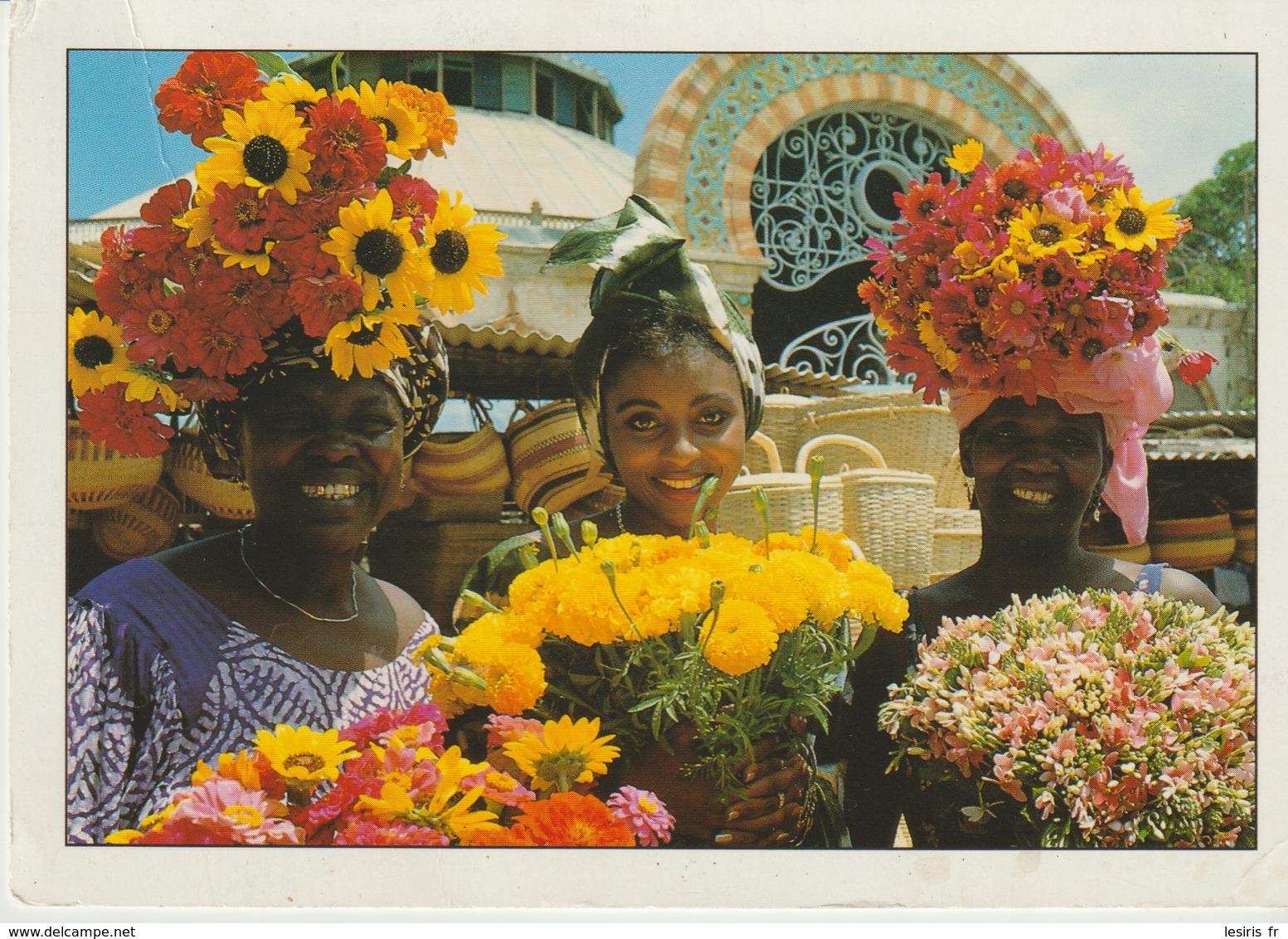 C.P. - PHOTO - COULEURS DU SÉNÉGAL - LES FLEURISTES KERMEL - 1156 - M. RENAUDEAU - HOA QUI - - Senegal