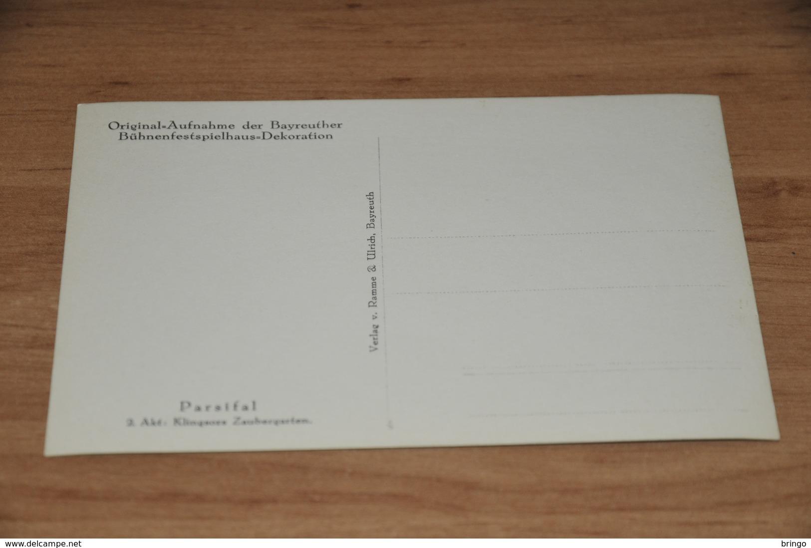 8962-   ORIGINAL AUFNAHME DER BAYREUTHER BÜHNENFESTSPIELHAUS-DEKORATION - PARSIFAL - Bayreuth