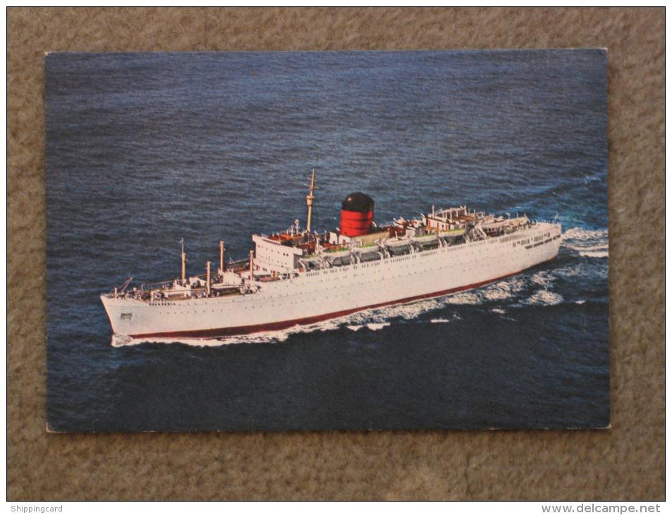 CUNARD FRANCONIA - DIXON CARD - Steamers