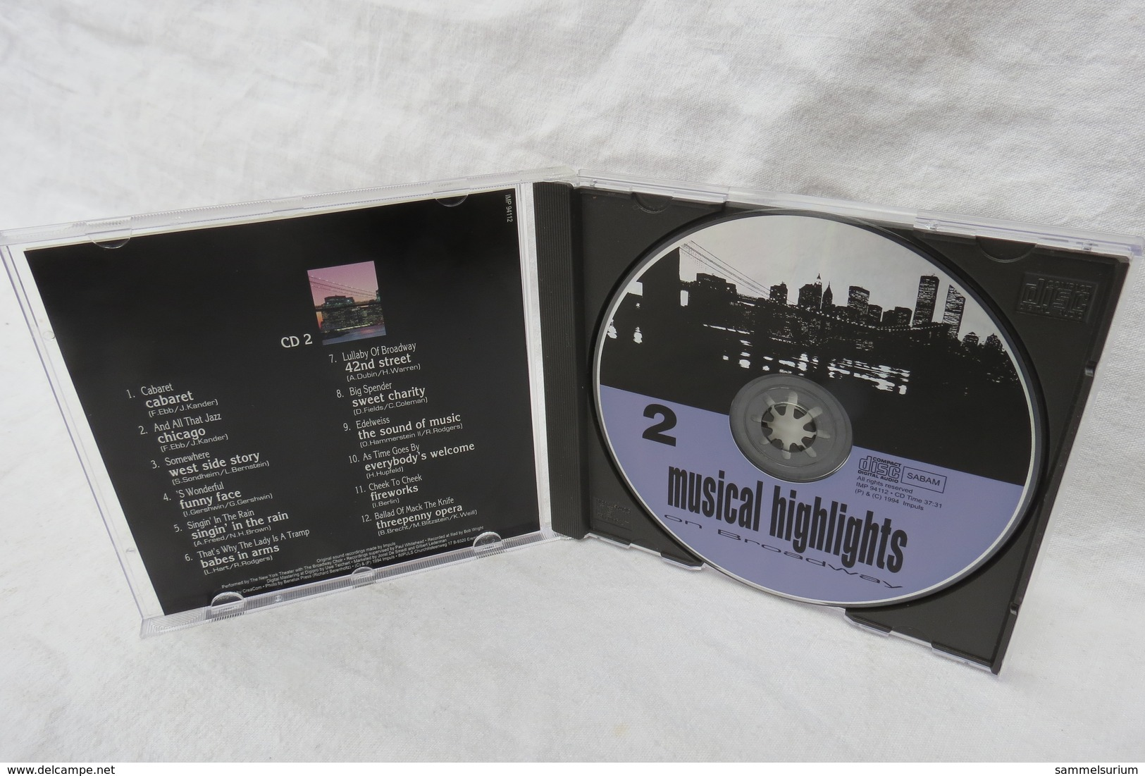 """CD """"Musical Highlights On Broadway"""" CD 2 - Musicals"""