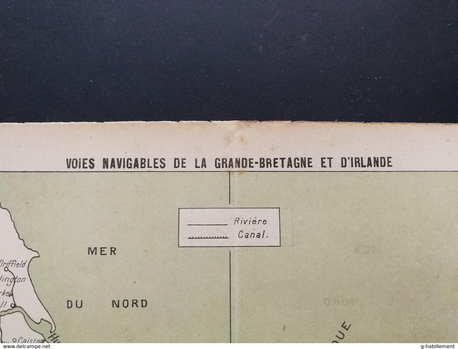 ANNALES PONTS Et CHAUSSEES (Royaume Uni) - Plan Des Voies Navigables De La Grande Bretagne Et D'irlande - 1907 (CLE84) - Cartes Marines