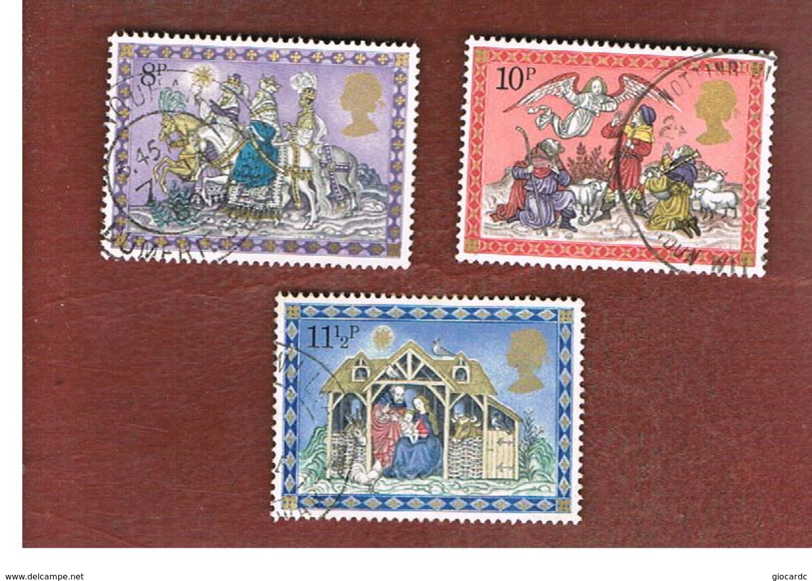 GRAN BRETAGNA (UNITED KINGDOM) -  SG 1104.1106  -  1979 CHRISTMAS  - USED - Usati