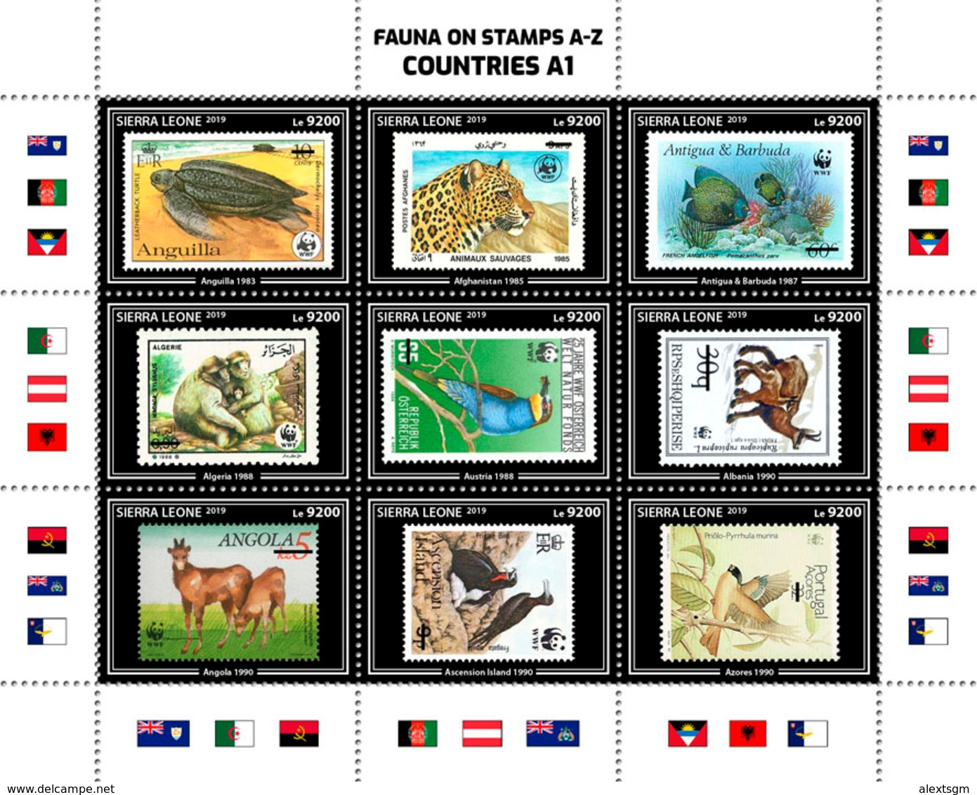 SIERRA LEONE 2019 - Marine Life, Fauna On Stamps A1. Official Issue. - Maritiem Leven