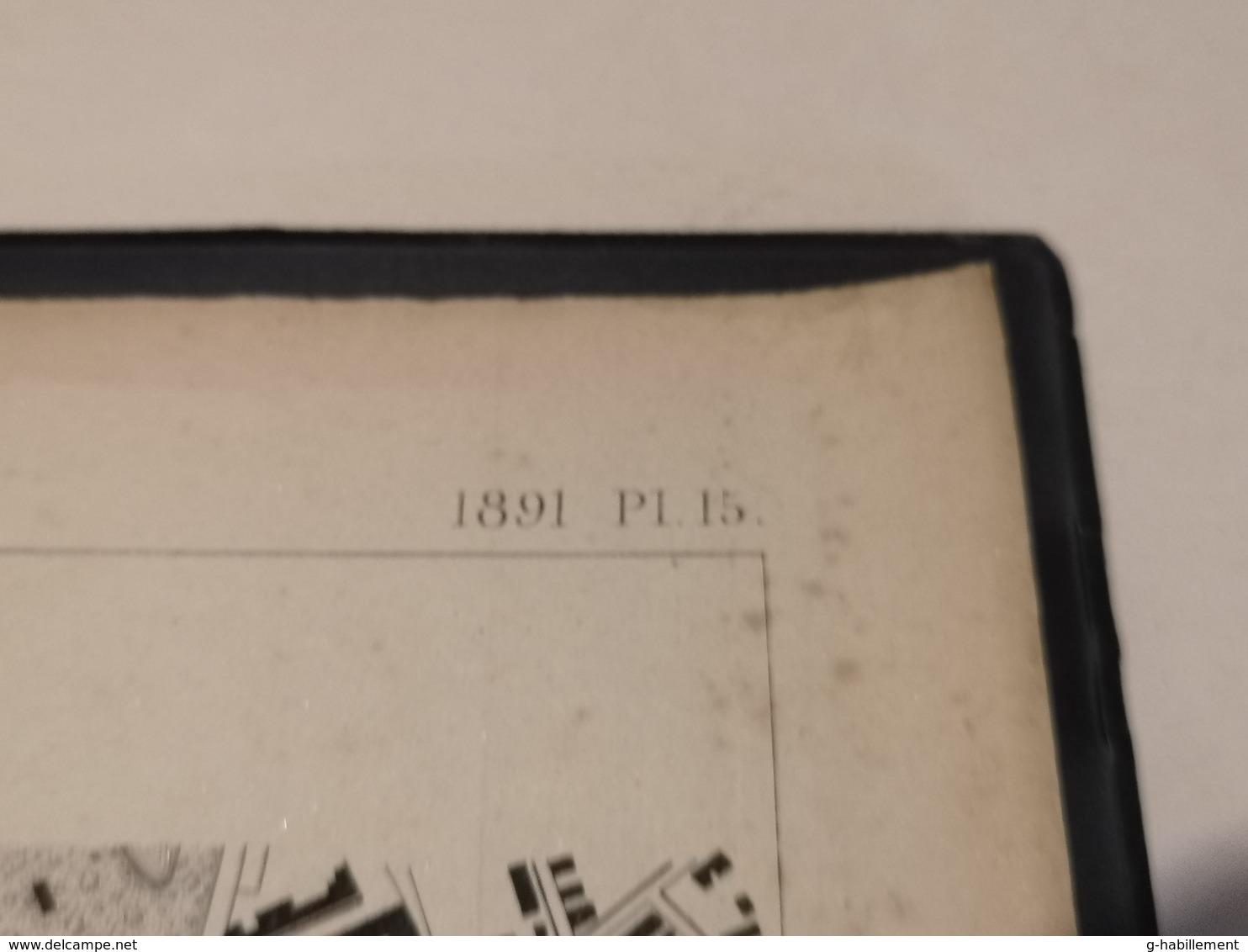 ANNALES PONTS Et CHAUSSEES (Allemagne) - Plan Des Ports De Francfort-Sur-Le-Mein - Graveur Macquet 1891 (CLF17) - Cartes Marines