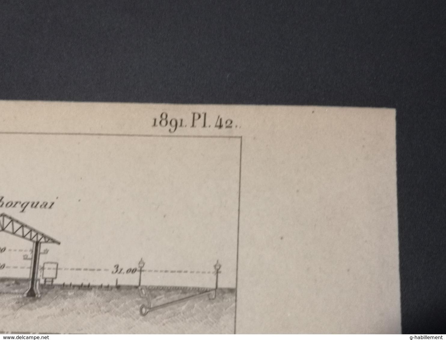 ANNALES PONTS Et CHAUSSEES (Allemagne) - Plan Des Ports Allemands De La Mer Du Nord - Graveur Macquet 1891 (CLF18) - Cartes Marines