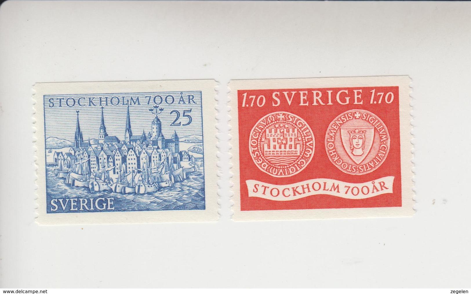 Zweden  Mi.cat 383/384 ** - Nuevos