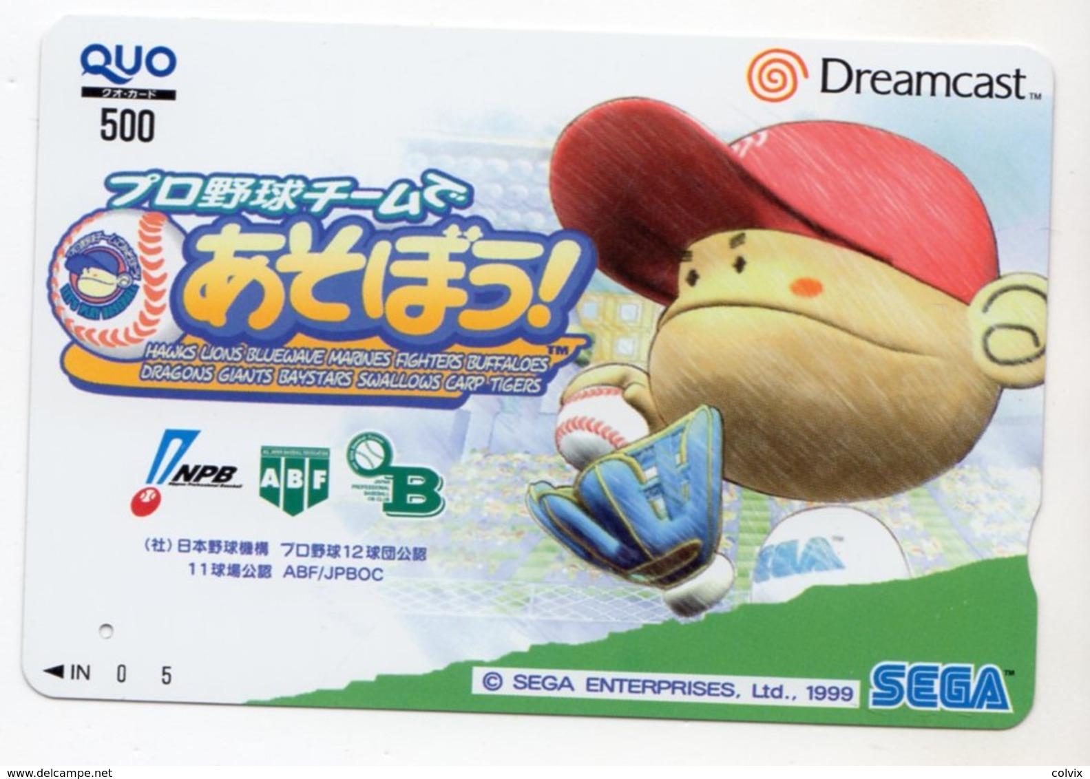 CARTE QUO PREPAID JAPON SEGA  DREAMCAST 1999 - Jeux