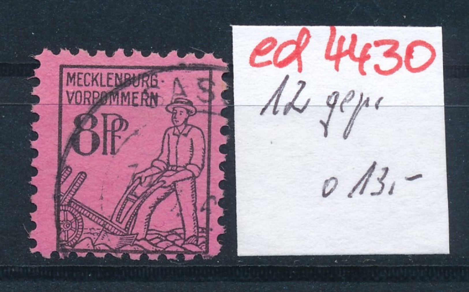 SBZ Nr. 12      Geprüft   O   (ed4430 ) Siehe Scan - Zone Soviétique
