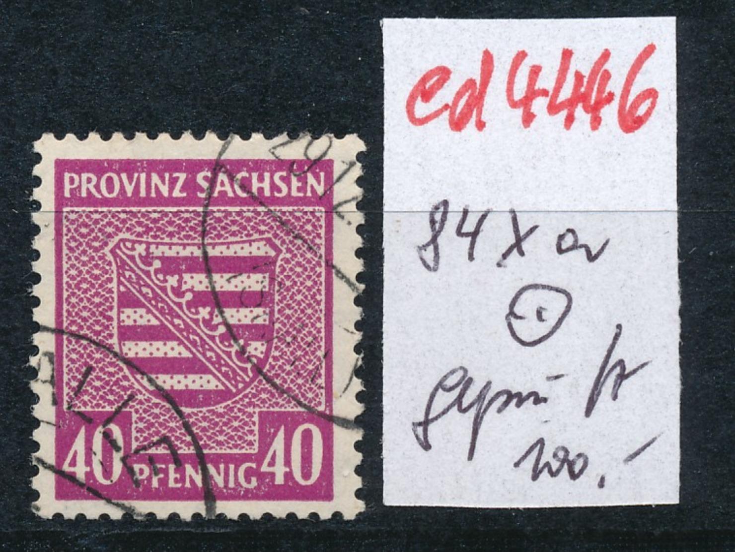 SBZ Nr. 84 Xa        Geprüft   O   (ed4446 ) Siehe Scan - Zone Soviétique