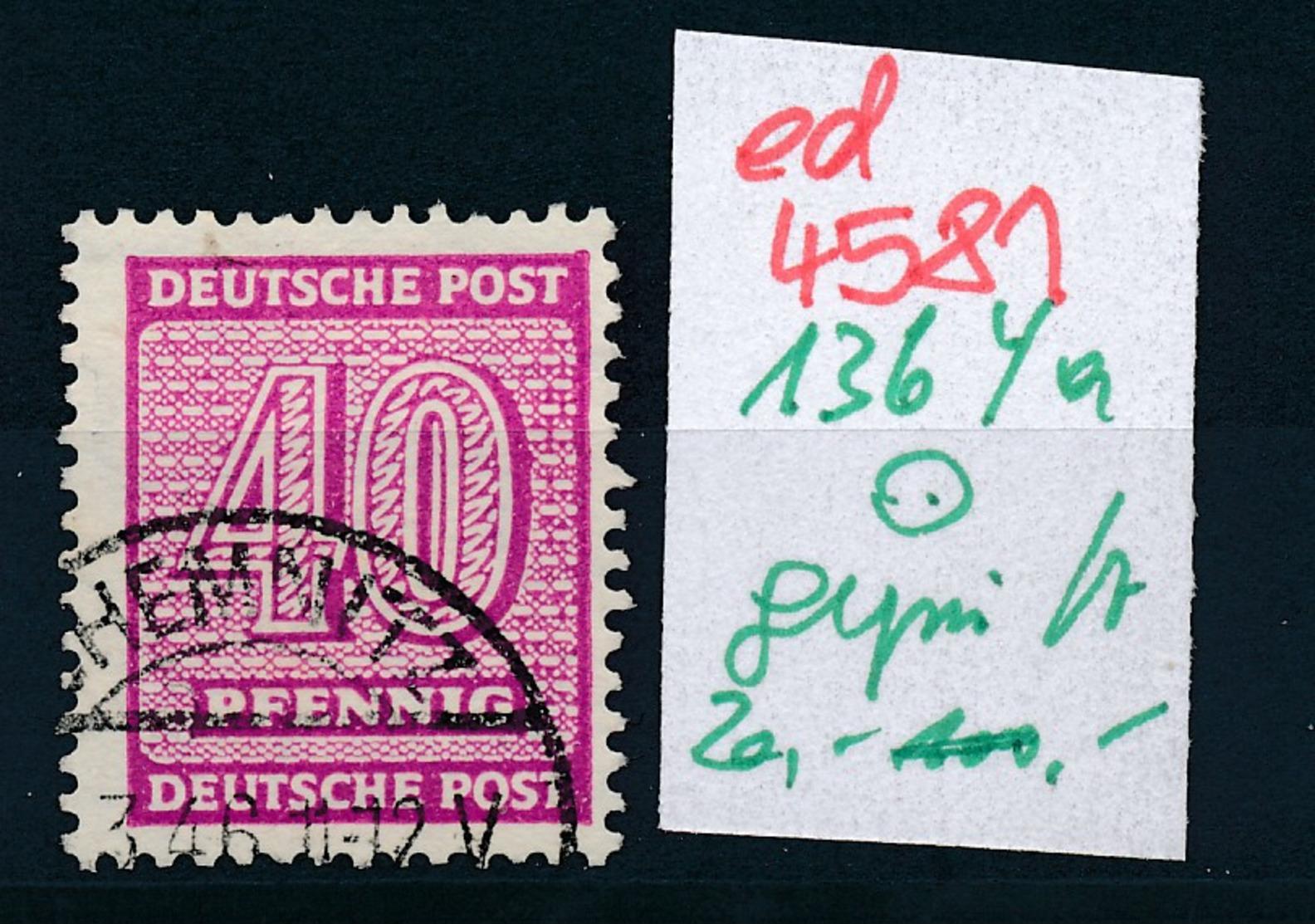 SBZ Nr. 136 Ya     Geprüft  O   (ed4581 ) Siehe Scan - Zone Soviétique