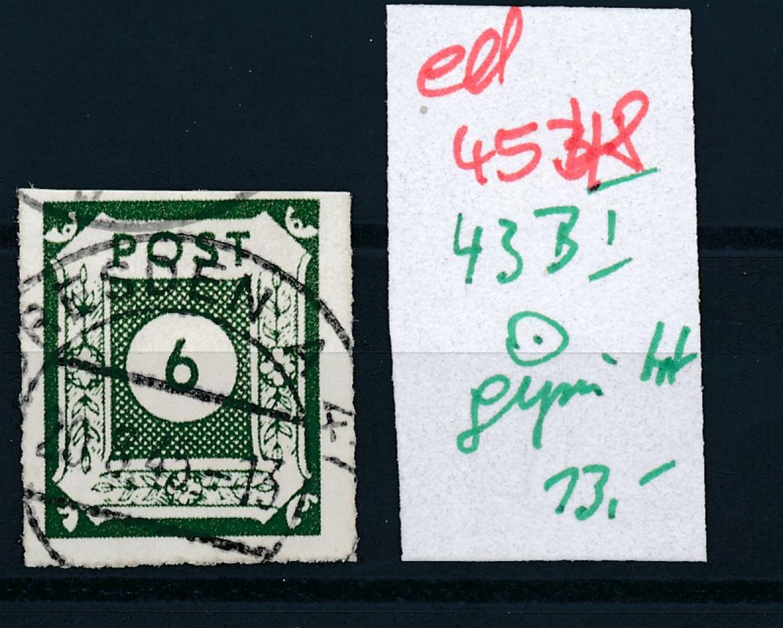 SBZ Nr. 43 B I   Geprüft  O   (ed4548  ) Siehe Scan - Zone Soviétique
