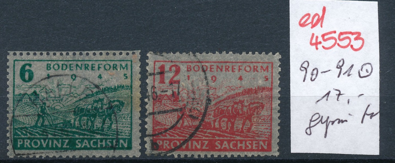 SBZ Nr. 90-1    Geprüft  O   (ed4553  ) Siehe Scan - Zone Soviétique