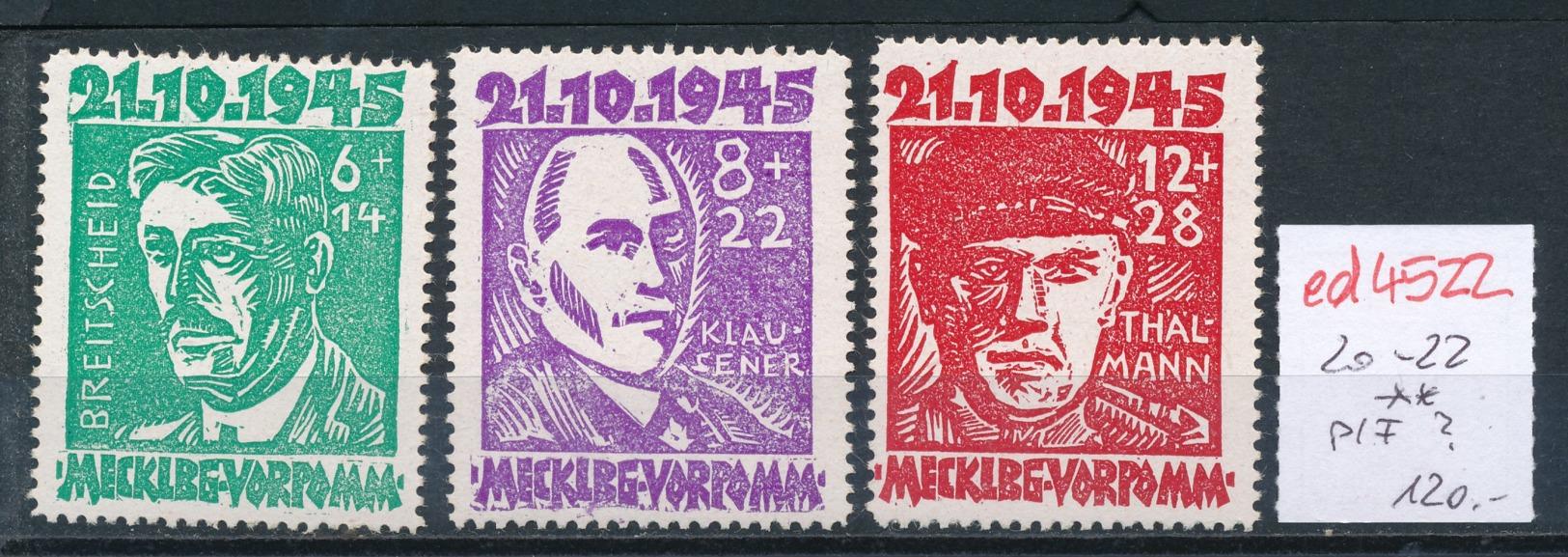 SBZ Nr.20-22  **   (ed4522  ) Siehe Scan - Zone Soviétique