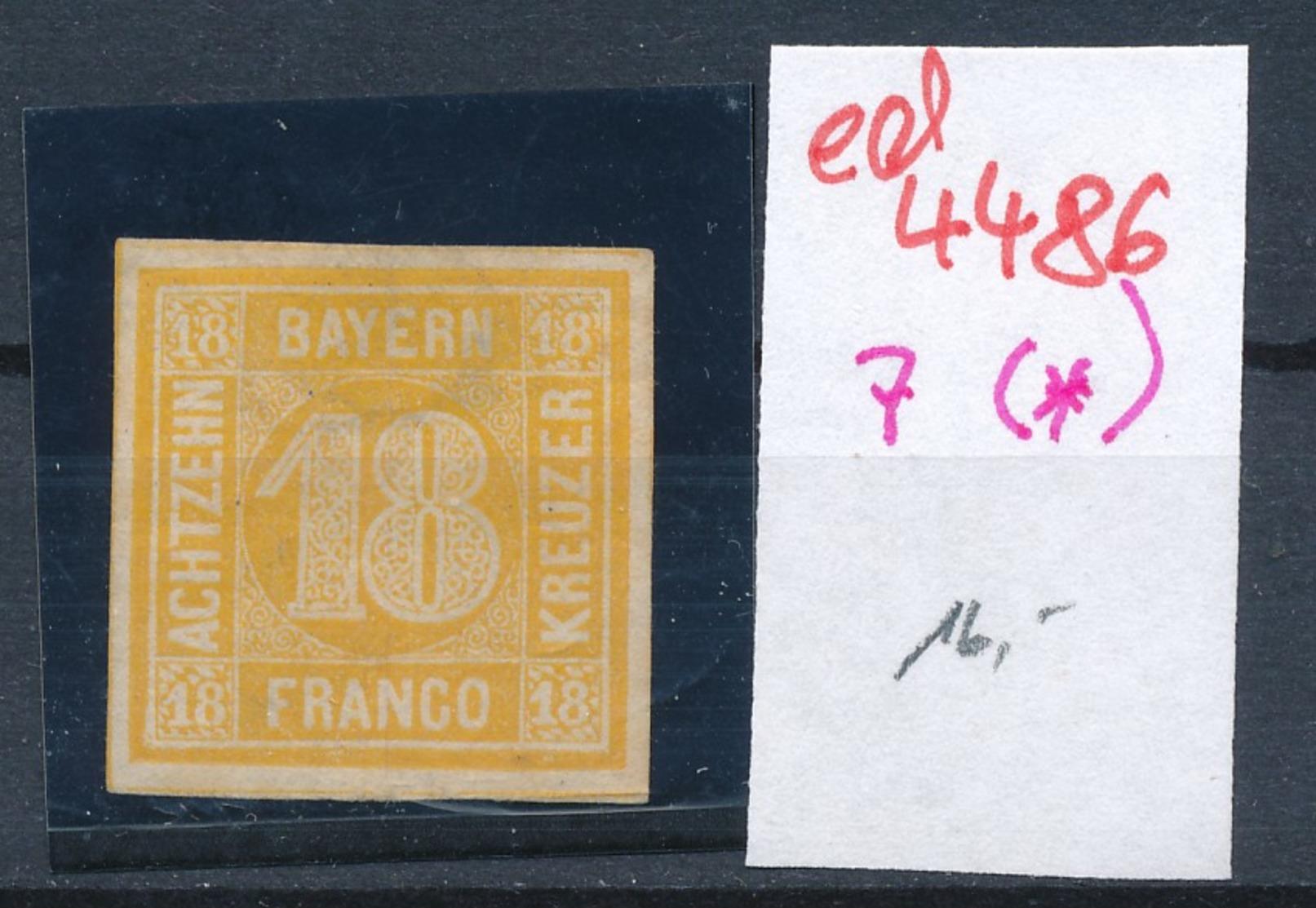 Bayern  Nr. 7 (*)   (ed4486  ) Siehe Scan - Bavière