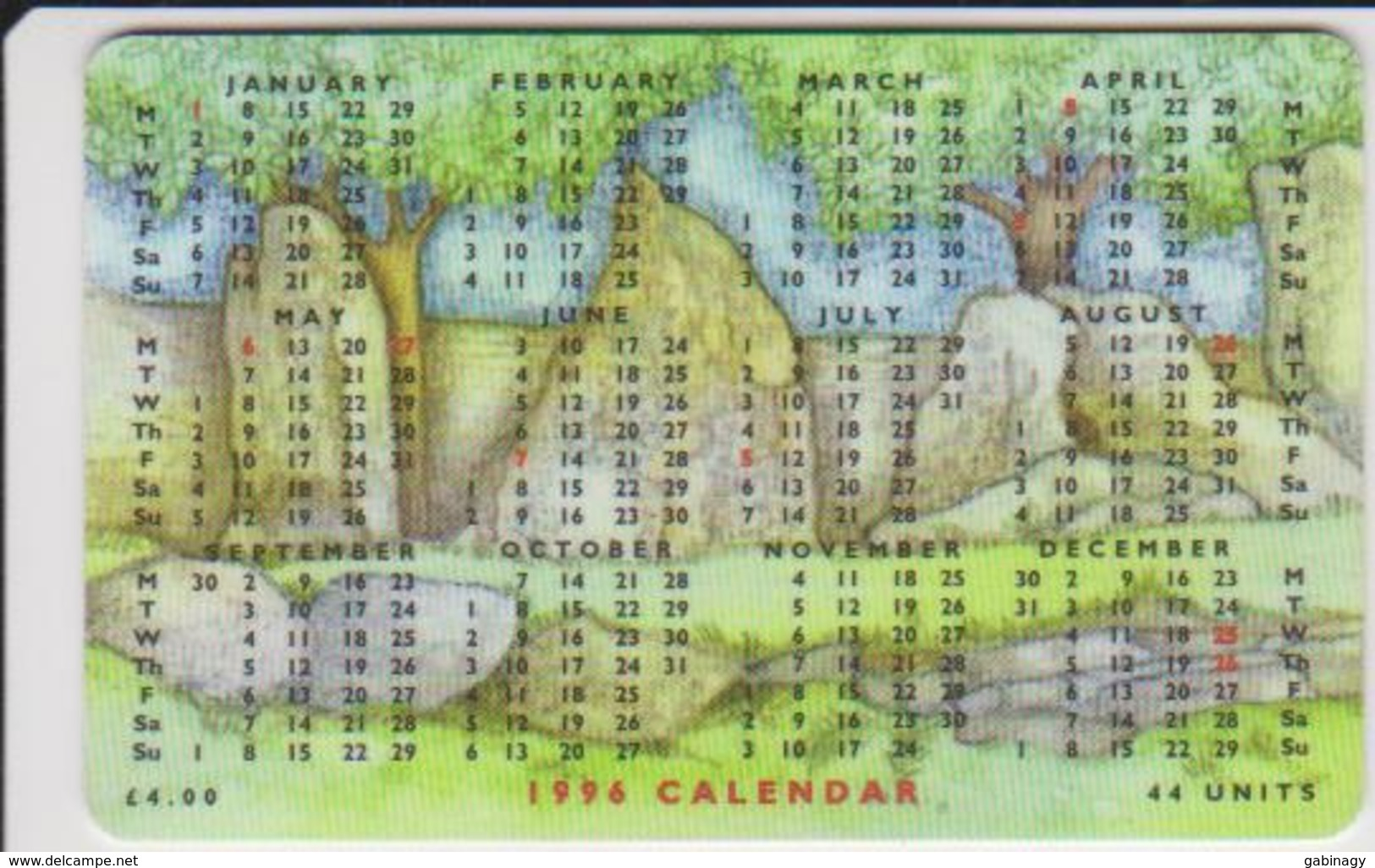 #08 - ISLE OF MAN-03 - CALENDAR - KING ORRY'S GRAVE - Man (Eiland)