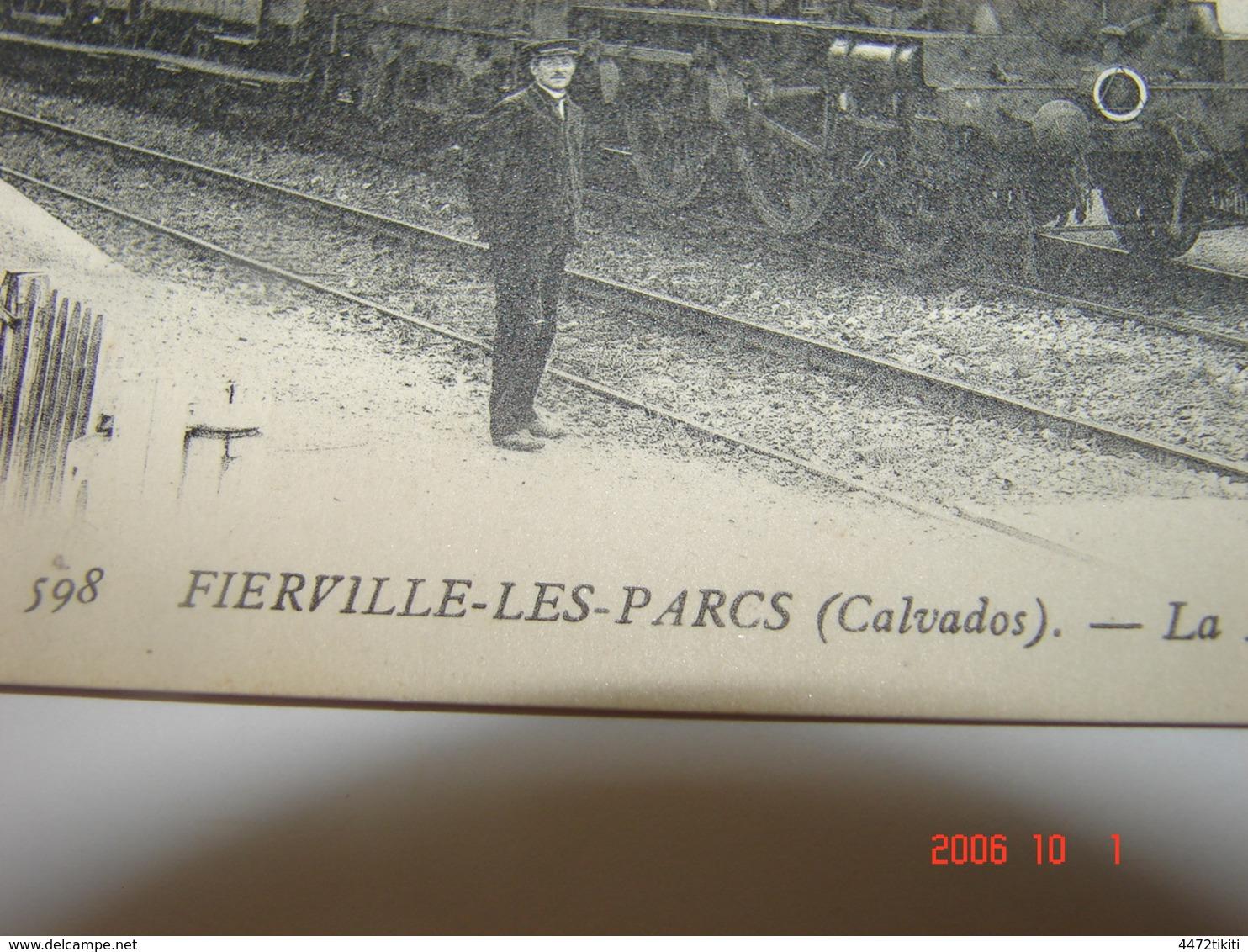 C.P.A.- Fierville Les Parcs (14) - La Halte à L'Arrivée Du Train De La Ligne De Trouville - 1910 - SUP (BF21) - Autres Communes